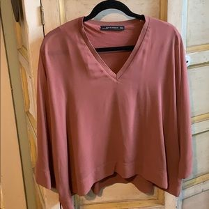 Zara Mauve Breezy Top Sz  M